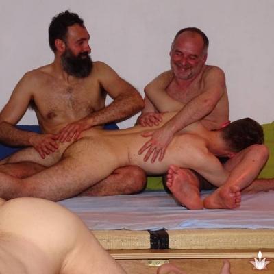 Bare spank erection